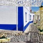 Festival flowers in streets, Alentejo, Portugal — Stock Photo