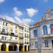 Houses of Giraldo square, Evora — Stock Photo