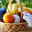 Stock Photo: Online fruits and basket shopping