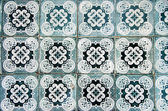 Ornamental old typical tiles — Stock Photo