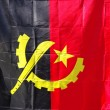 Angola waving flag in vertical — Stock Photo