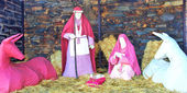 A nativity scene, creche,in village of Portugal — Stockfoto