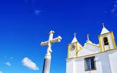 Portuguese church at Alentejo region — Stock Photo