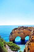 Rocks formation in Marinha beach, Algarve, Portugal — Stock Photo