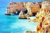 Marinha Beach,  located on the Atlantic coast in Portugal,Algar — Stock Photo