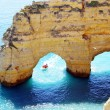Rocks formation in Marinha beach, Algarve, Portugal — Stock Photo #43677665