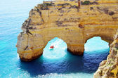 Rocks formation in Marinha beach, Algarve, Portugal — Stock Photo
