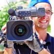 REGUENGOS DE MONSARAZ - JUNE15: An unidentified cameraman record — Stock Photo #48111301
