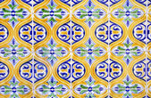 Traditional portuguese tiles, Marim, in Algarve. — Stock Photo