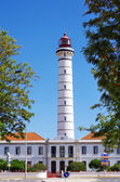 View of the lighthouse of Vila Real de Santo Antonio,Algarve,Por — Stock Photo