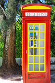 Traditional red telephone box, Algarve,Portugal — Stock Photo