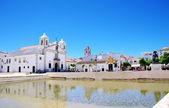 Square of Lagos city in Algarve, Portugal — Stock Photo
