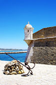 Fort and anchor in Lagos, Algarve, Portugal  — Stock Photo
