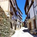 Typical street in Mogarraz village, Salamanca. — Stock Photo