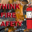 Think fire safety sign — Stock Photo