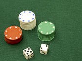 Lucky seven dice — Stock Photo