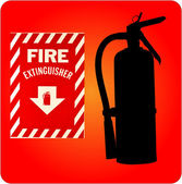 Fire extinguisher silhouette sign — Stock Photo
