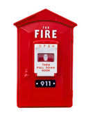 Fire alarm box isolated — Stock Photo