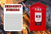 Emergency numbers list — ストック写真