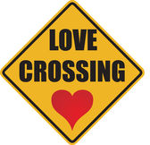 Love crossing sign — Stock Photo