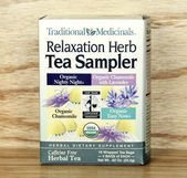 TRADITIONAL MEDICINALS Relaxing Herb Tea Sampler — Stock Photo
