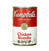 Can of Campell's Chicken Noodle Soup — Stock Photo