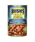 Can of Bush's Dark Red Kidney Beans — Stock Photo