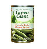 Can of Green Giant French Style Green Beans — Stock Photo