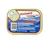Can of VanCamp's Sardines — Stock Photo