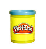 Plastic jar of blue Play-Doh — Stock Photo