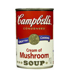 Can of Campbell's Cream of Mushroom Soup — Stock Photo