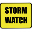 Storm watch sign — Stock Photo #41376707