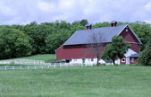 Old style red barn  — Stock Photo