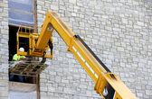 Construction boom lift — Stock Photo