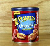 Can of Planters Chipotle Peanuts — Foto Stock