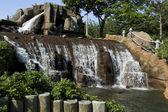 Waterval met bomen — Stockfoto