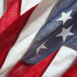 Very old American flag - Stock Photo