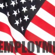 Stock Photo: Americflag with unemployment word