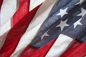 Very old American flag — Stock Photo