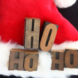 Santa hat ho ho ho — Stock Photo
