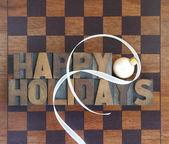 Schackbräde med trevlig helg och prydnad — Stockfoto