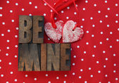 Polka dots, hearts, be mine — Stock Photo