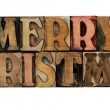 Merry Christmas in letterpress wood type — Stock Photo #2521976