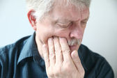 Man suffers from face pain — Stock Photo