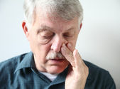 Man with stuffy nose — Stock Photo