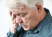 Older man tired — Stock Photo