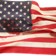 American flag with bloodstains — Stock Photo