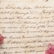 Old document hand script with flowers — Stock Photo