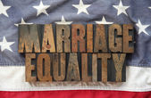 Marriage equality on old American flag — Stock Photo