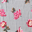 Houndstooth floral fabric from 70s — Stok fotoğraf